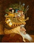 "James Christensen Hand Signed and Numbered Limited Edition Canvas Giclee:""Old Man With A Lot on His Mind"""