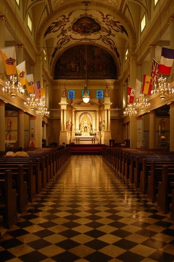 o i can just imagine walking down this aisle with my daddy   St. Louis Cathedral, New Orleans