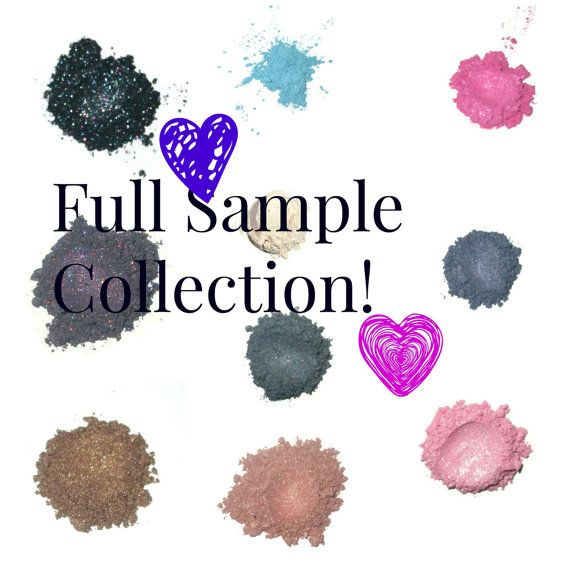 Full Eye Shadow Sample Collection by MadeByMandikins on Etsy, $65.00