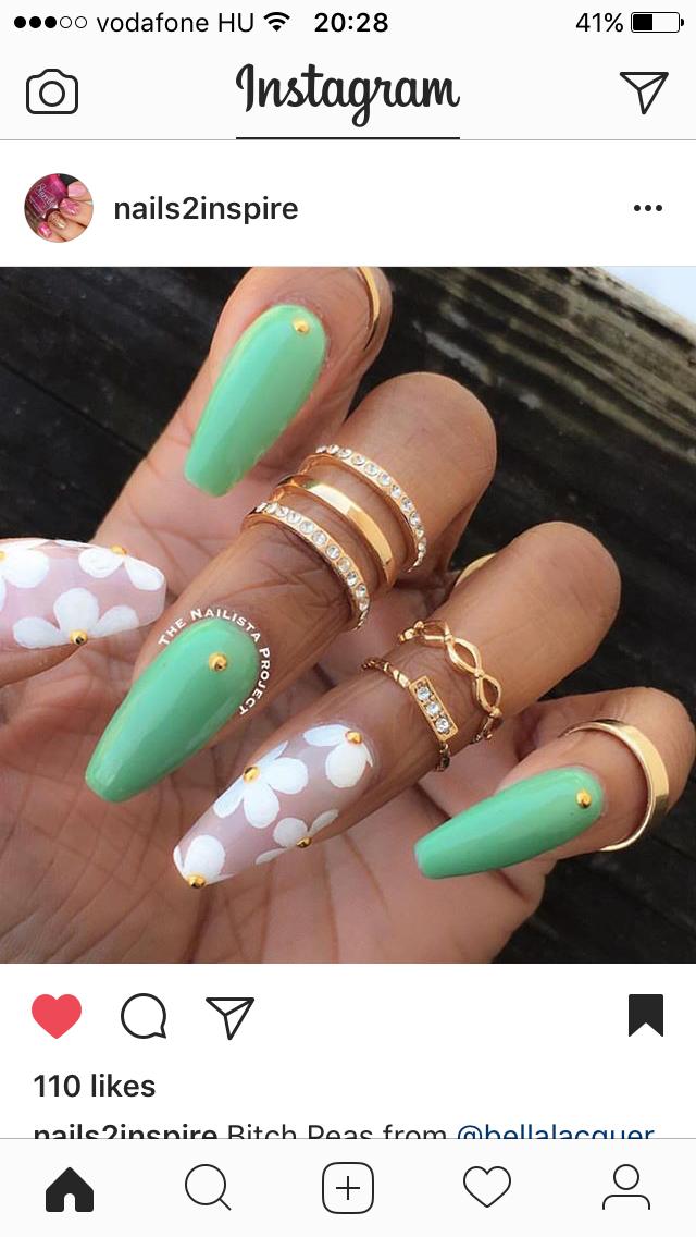 Pretty nail art idea for coffin nails | Nails | Pinterest | Diseños ...