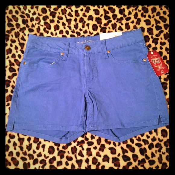 NWT Blue Size 6 Shorts Brand new with tags!! Blue Faded Glory shorts, juniors. Size 6!! Faded Glory Shorts