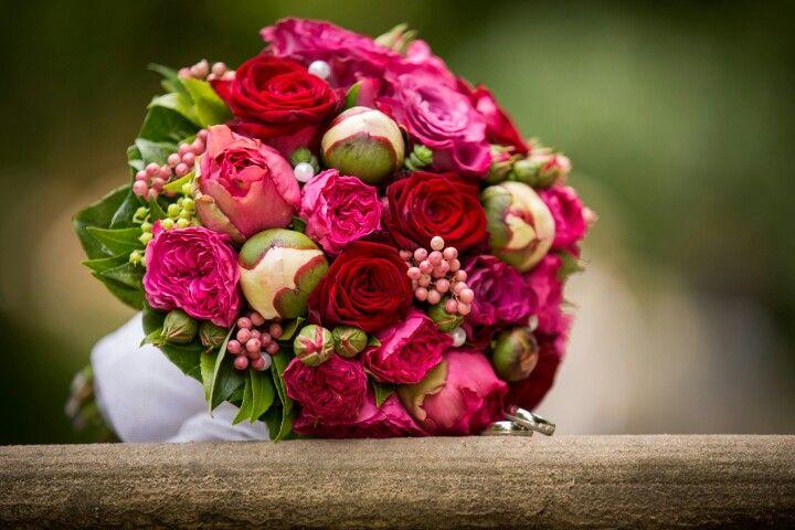 Mein Brautstrau Rosen und Pfingstrosen  Brautstrau in