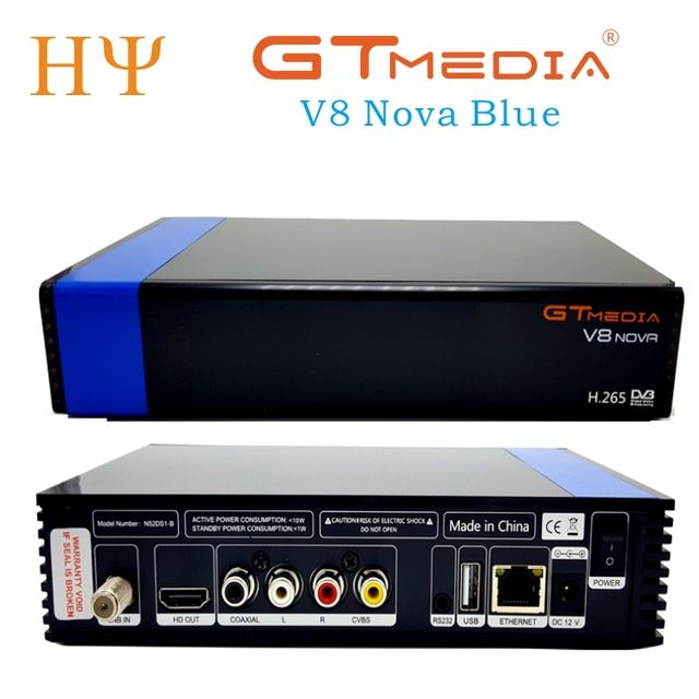 5pcs Lot Gtmedia V8 Nova Blue Dvb S2 Hd 265 Satellite Receiver Support Cccam Newcamd Power Vu Biss Set Top Box Built Satellite Receiver Nova Blue Box Building