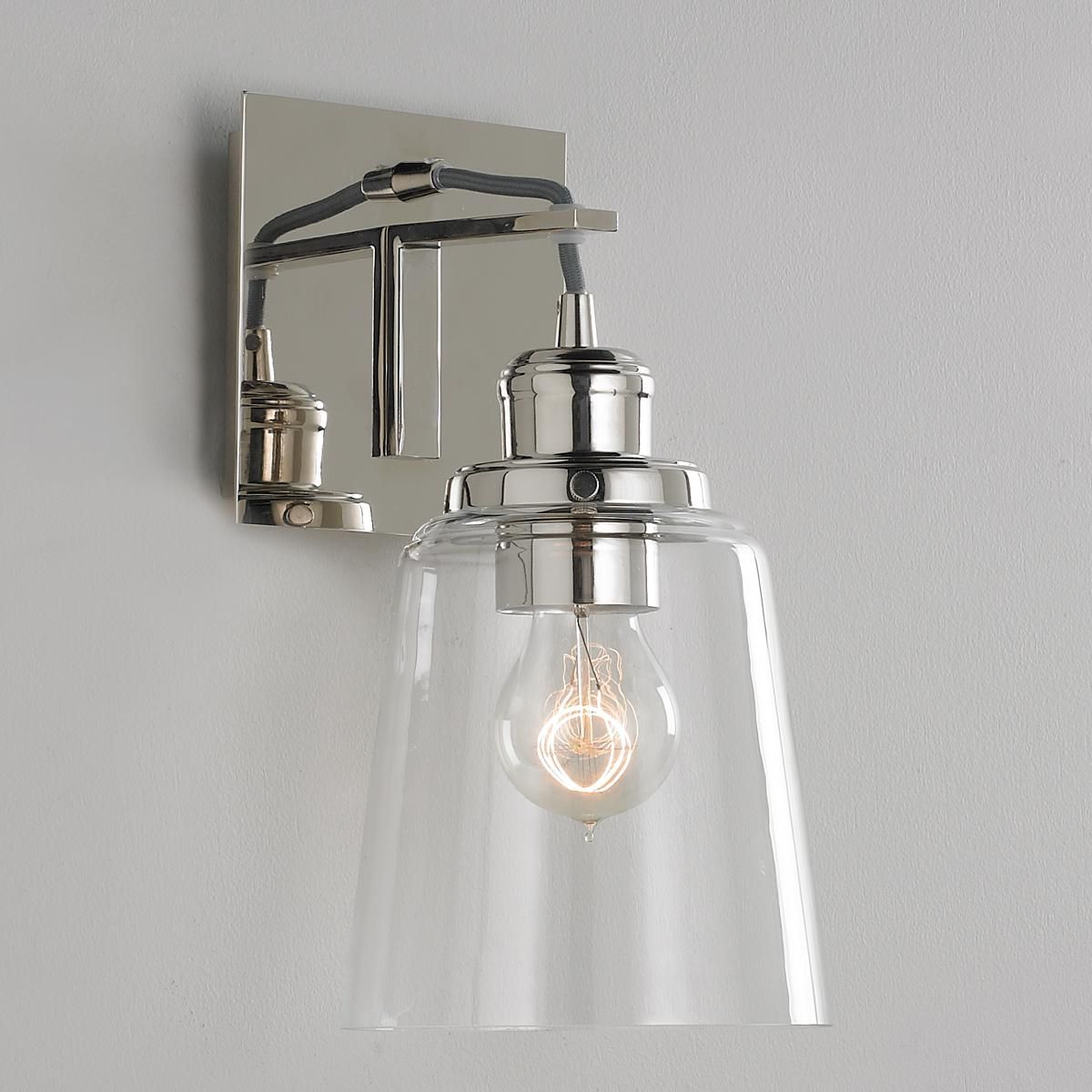 Vice wall sconce wall sconces polished nickel and antique brass vice wall sconce aloadofball Image collections