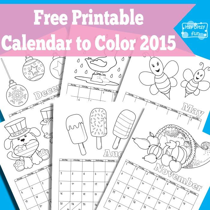 Printable Calendar for Kids 2018 Free printable calendar - preschool calendar template
