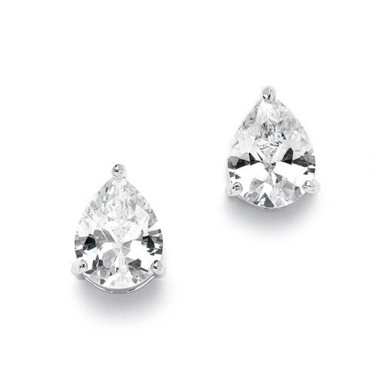 Vnox Womens Girls Stainless Steel CZ Diamond Flower Shape Small