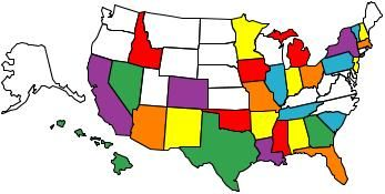 Visit all 50 states. Getting closer every year! (the ones w/ color are the ones I've been to... guess that might be kinda obvious)