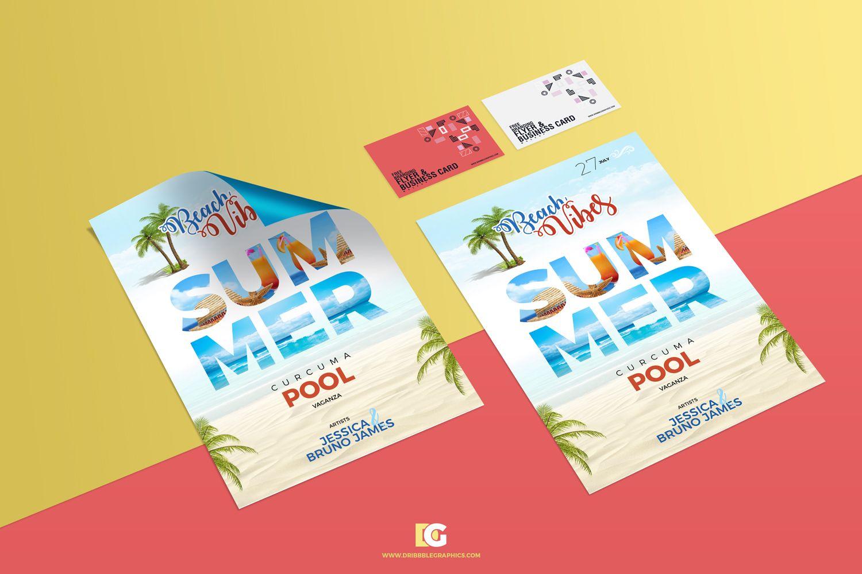 Free-Branding-Flyer-&-Business-Card-Mockup | Mockup | Pinterest ...