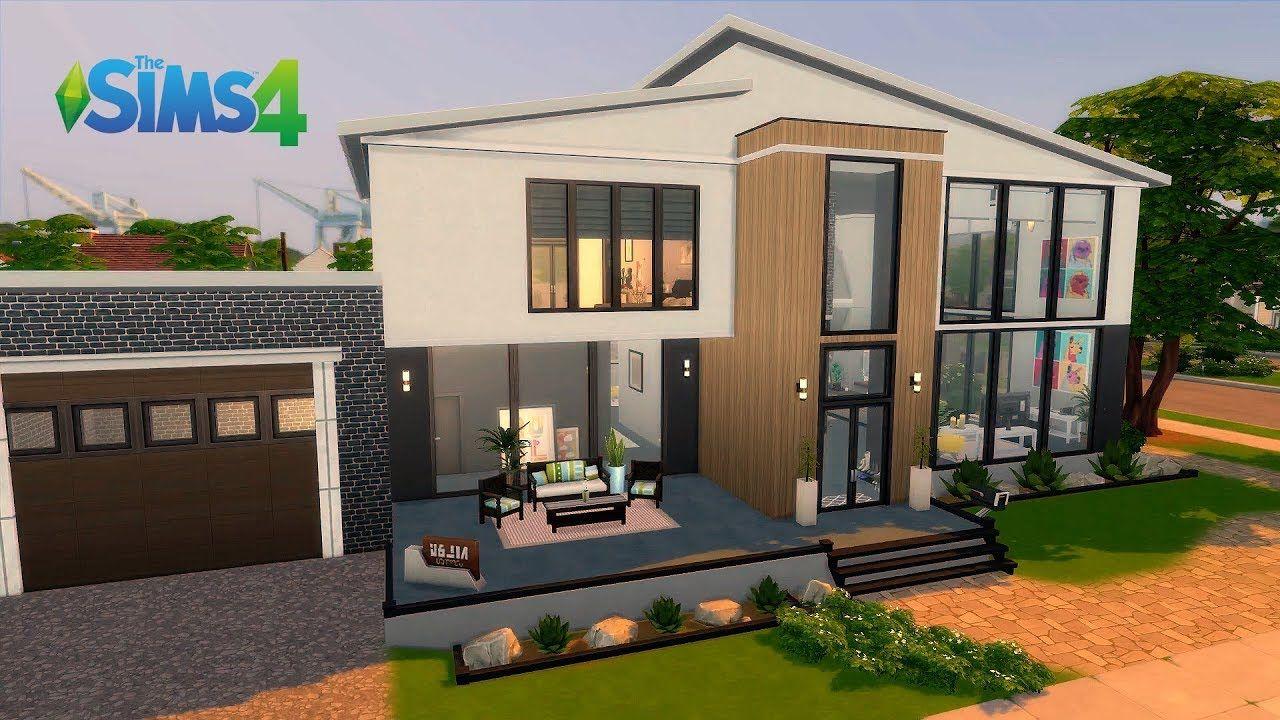 Modern House I Base Game I No CC I Stop Motion I The Sims 4