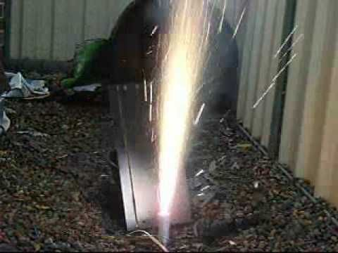 Adding aluminium powder to Sugar rocket fuel- Static tests - YouTube