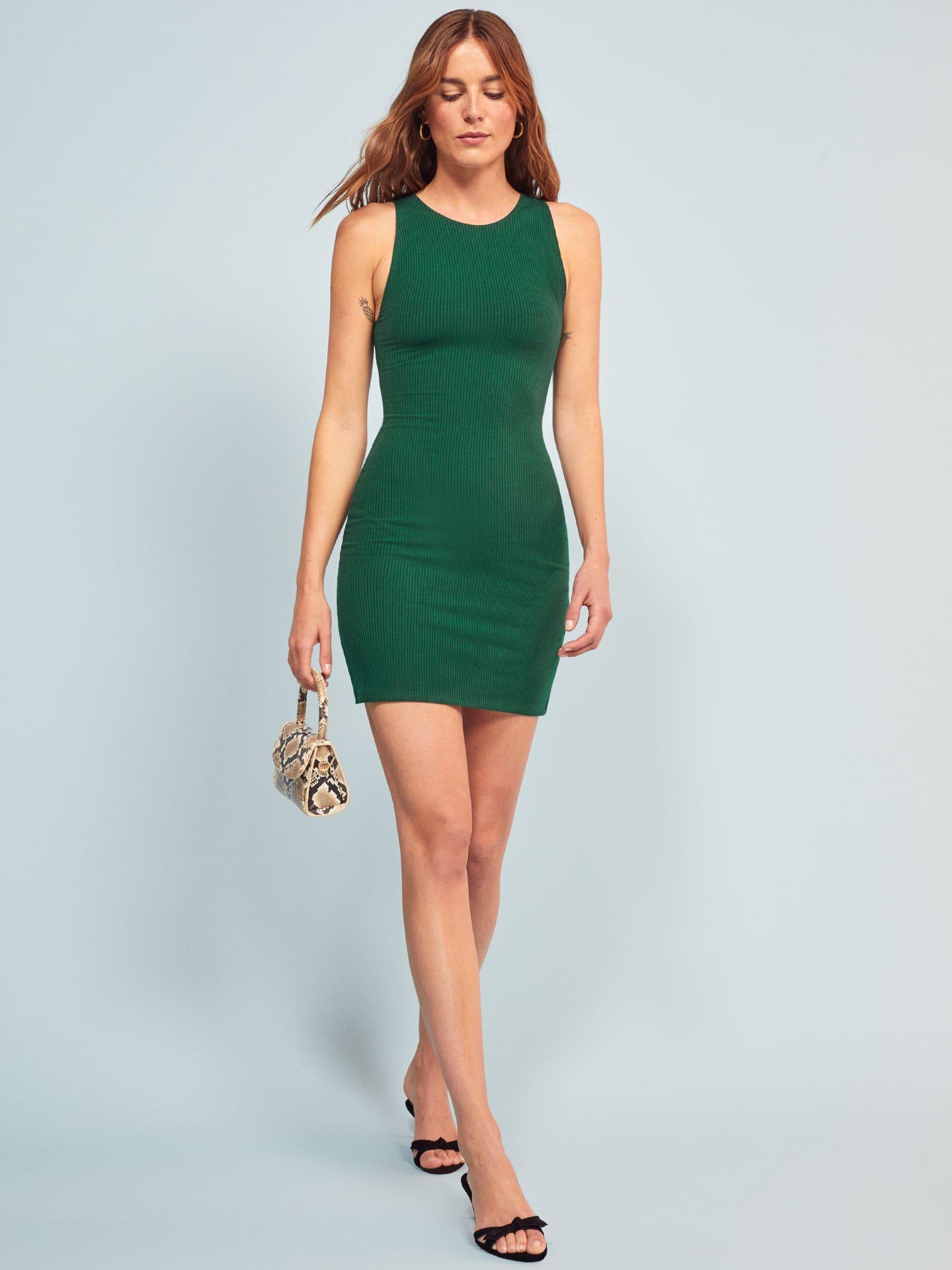 Kris Dress Ribbed Dresses Dresses Reformation Dress [ 2133 x 1600 Pixel ]