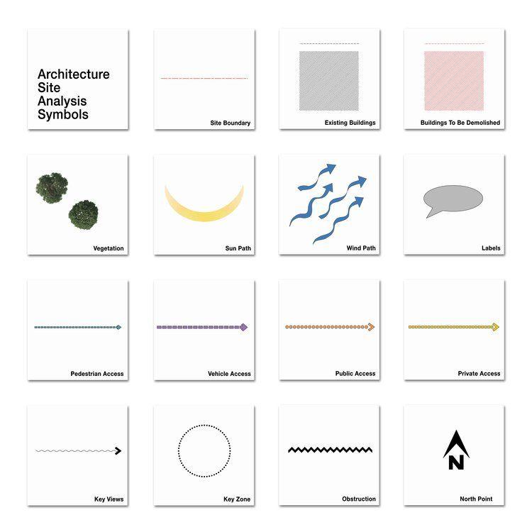 Architectural Site Analysis Symbols Site Analysis Architecture
