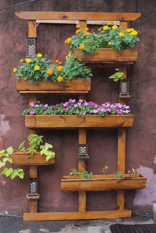 Backyard Oasis How To Make Your Own Vertical Garden Vertical Garden Diy Vertical Herb Garden Backyard Oasis Diy