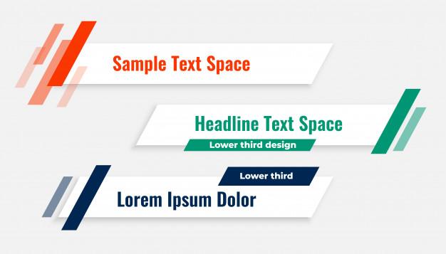 Download Geometric Modern Lower Third Banner Template For Free Vector Free Banner Template Banner Template Design