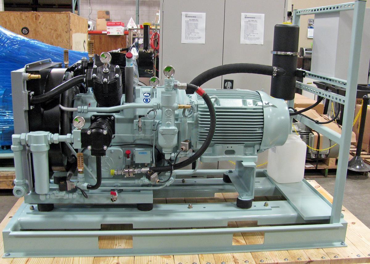 Reciprocating piston high pressure air compressor Image