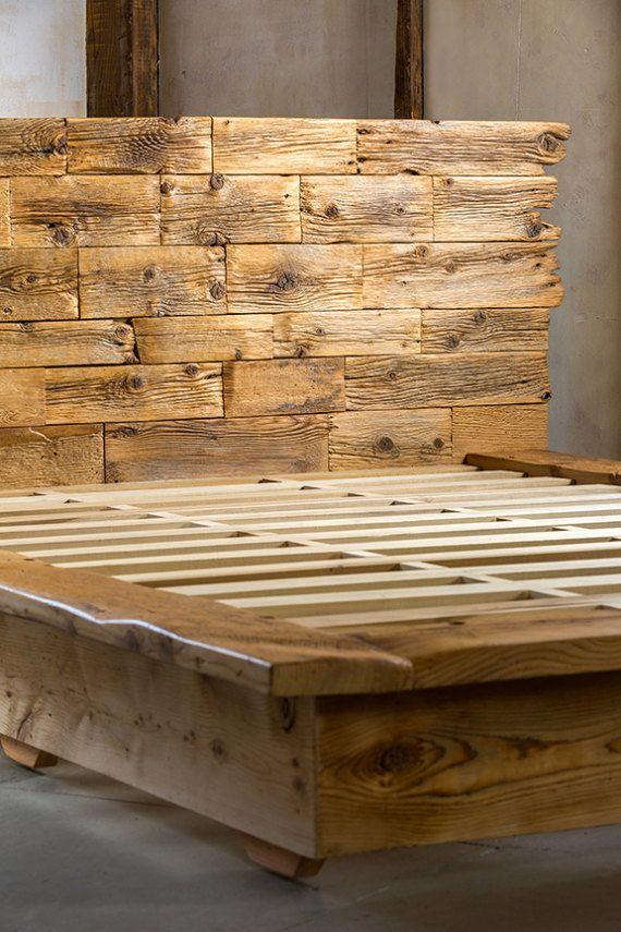 Queen Size Platform Bed Frame & Headboard | Cabecero, Plataforma y Camas