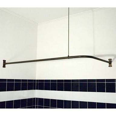Image Result For Corner Shower Curtain Rail Matt Black Corner