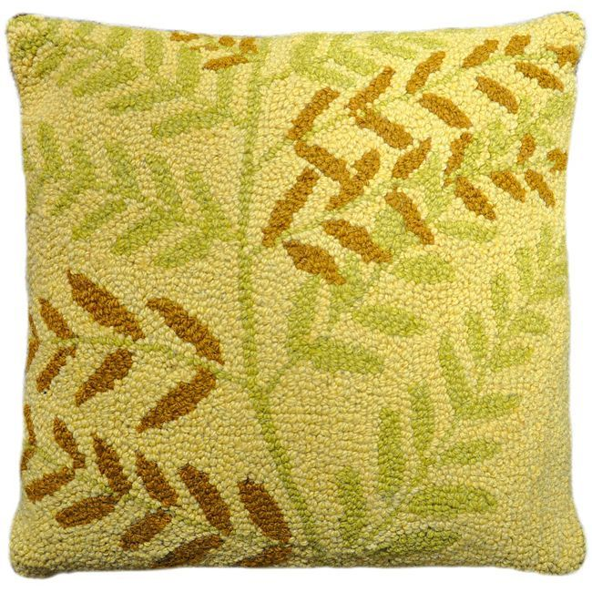 Cottage Home Willow Hooked Wool Pillow