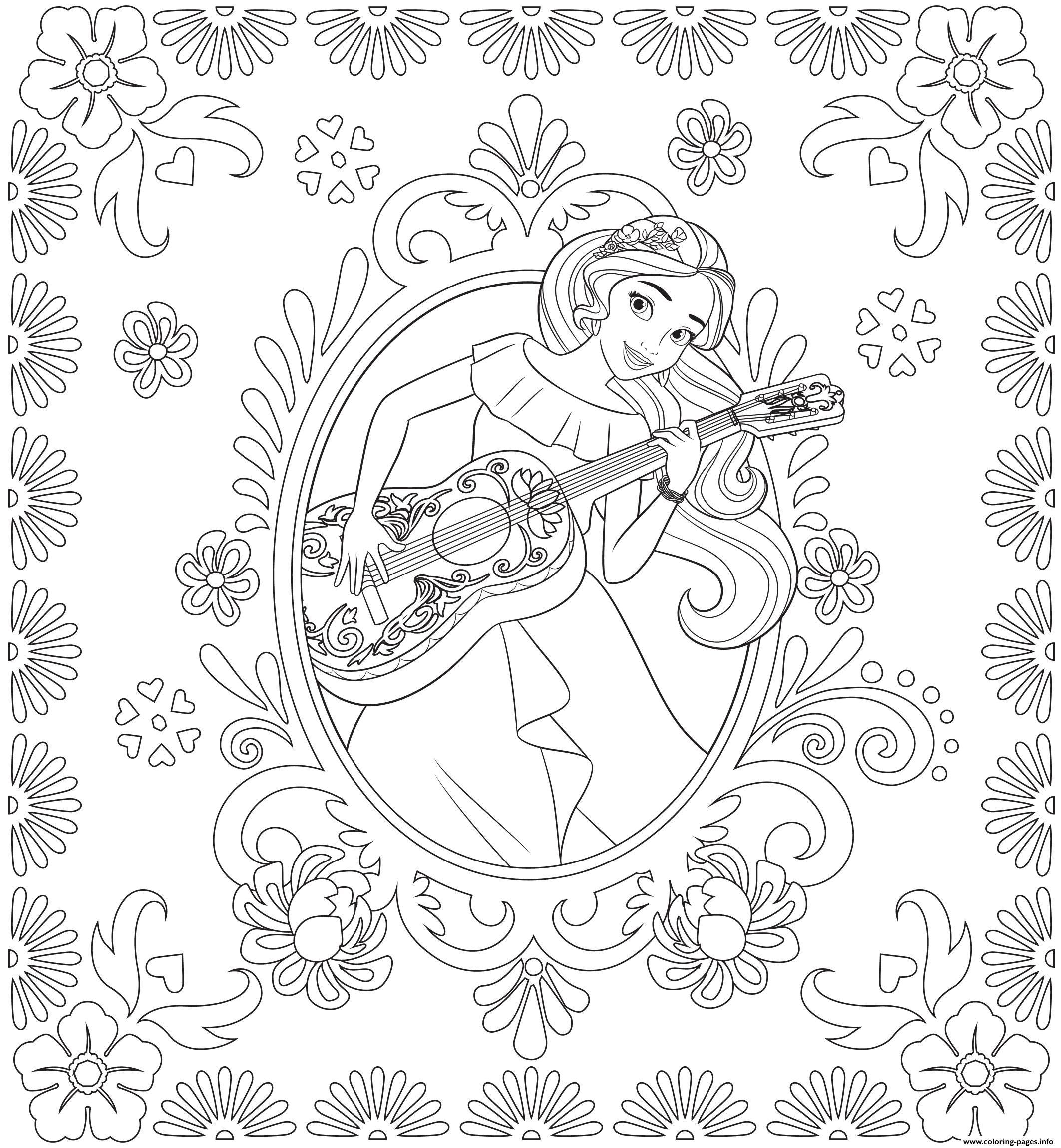 Print Princess Elena of Avalor disney princess coloring pages | Baby ...