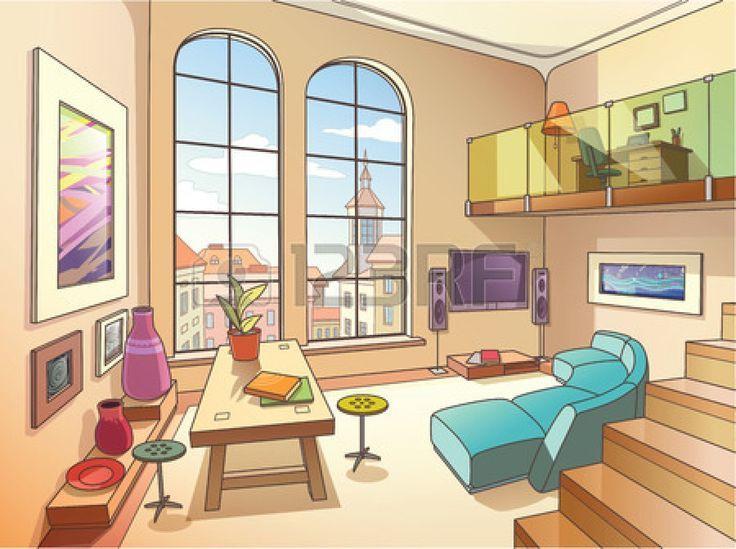 Illustrator Living Room Interior