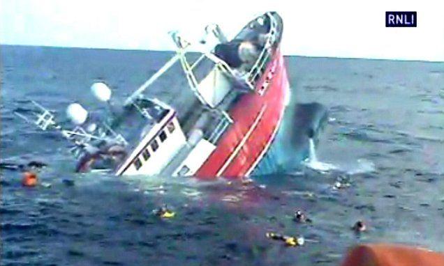 Hairraising moment RNLI and Coastguard rescue five