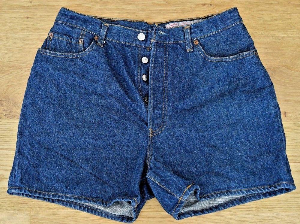01448bf94f Vintage Levi's 901 Men's Dark Blue Denim Short Jean Pants, button fly, Size  W36 #Levis