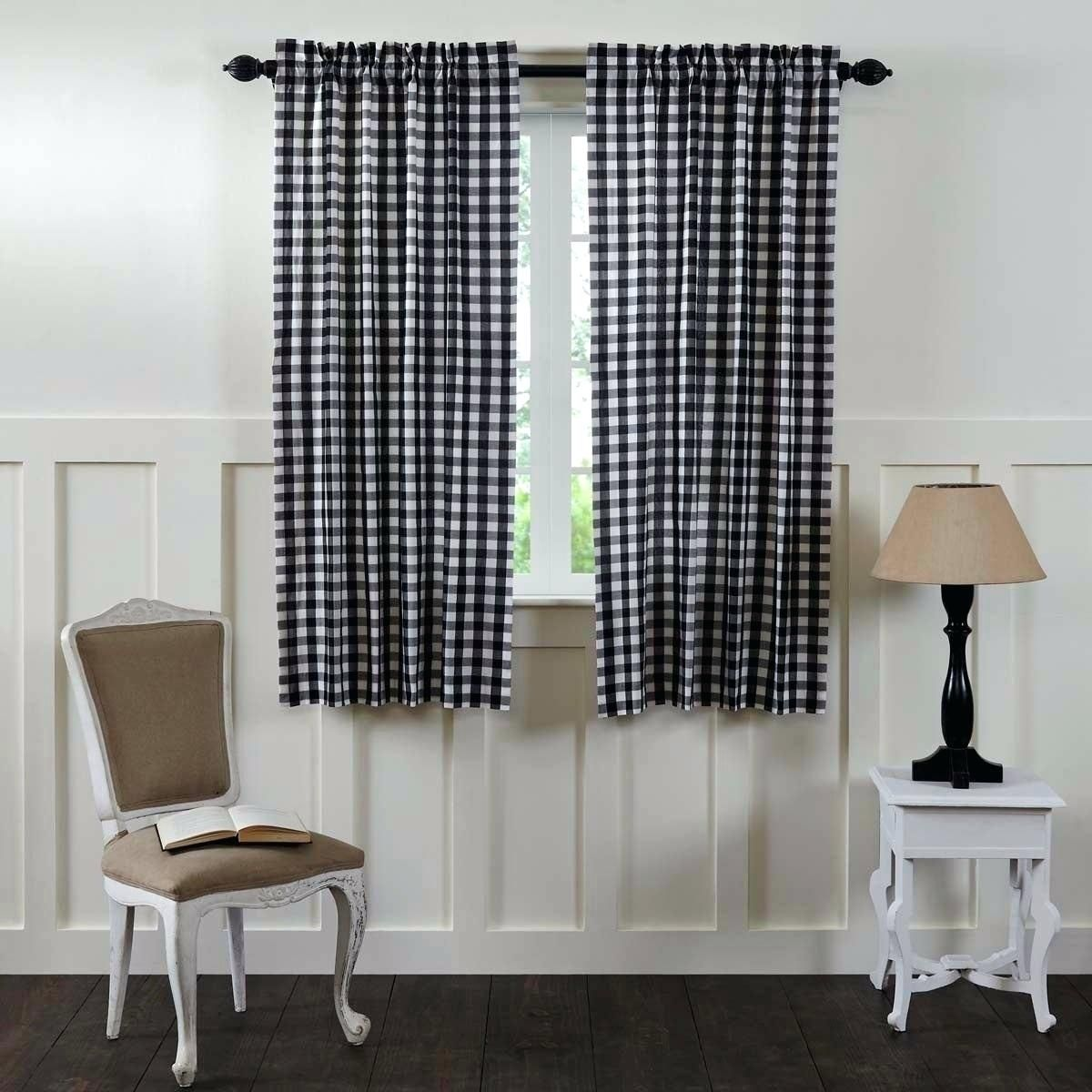 Black And White Buffalo Check Curtains Design Ideas , Once