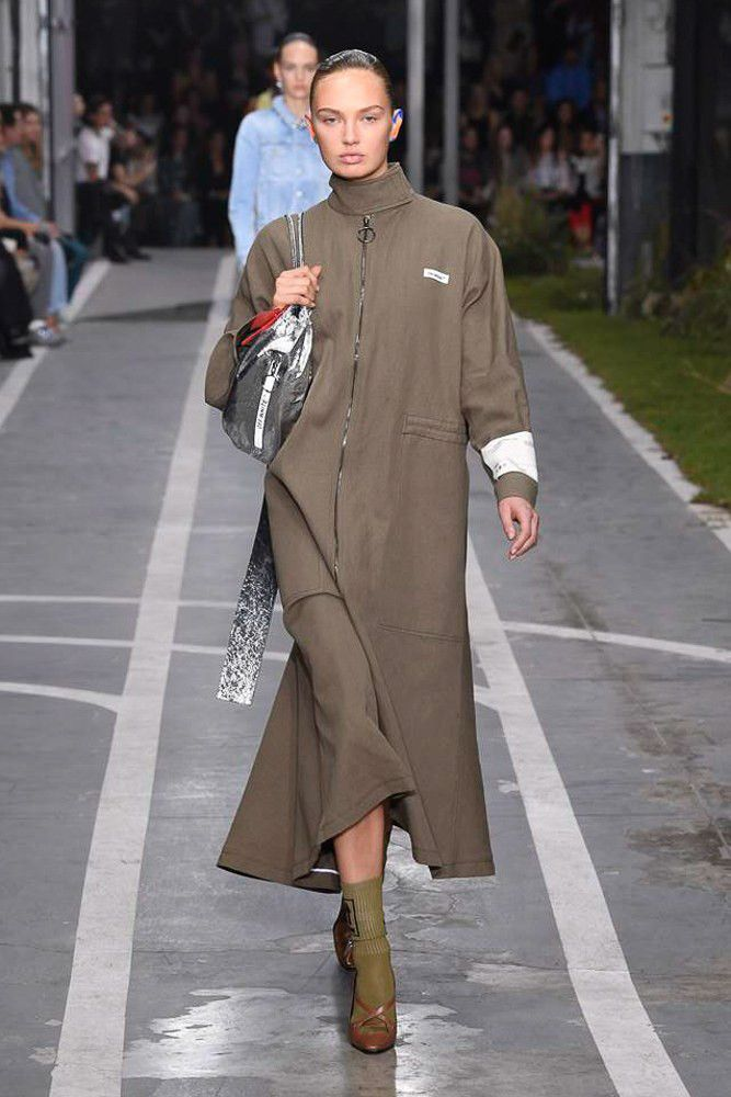 0ac06b996c off white virgil abloh nike track field runway collection collaboration spring  summer 2019 paris fashion week womenswear gown dress jacket denim sneaker  ...