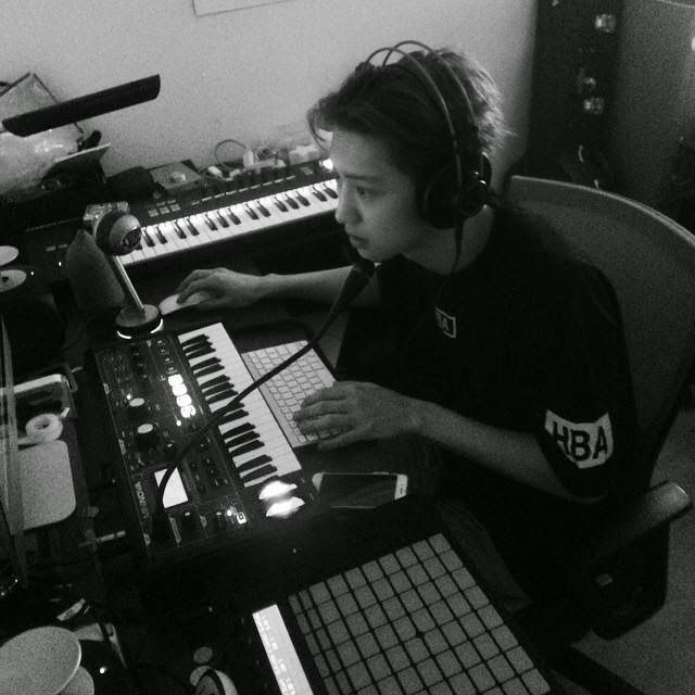 Image result for chanyeol in his studio