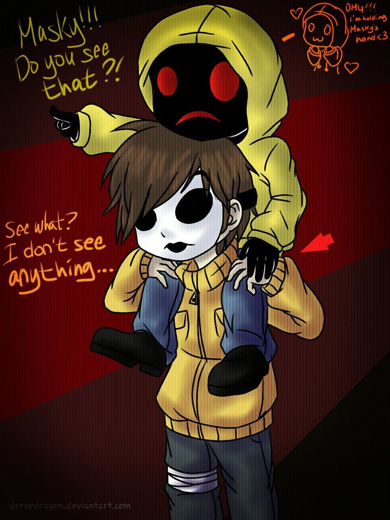 Dat comment in the top right corner... Creepypasta cute