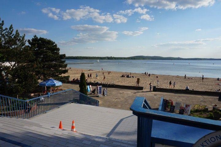 Blick Auf Das Strandbad Am Grossen Muggelsee Strandbad Muggelsee Strand