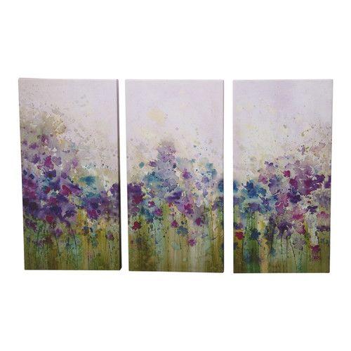 Graham brown watercolour meadow 3 piece framed art set