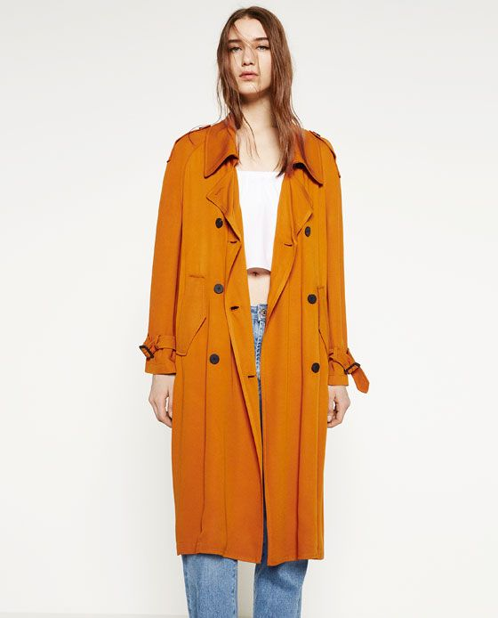 Image 3 Of Trench Coat With Horn Button From Zara Spring Into