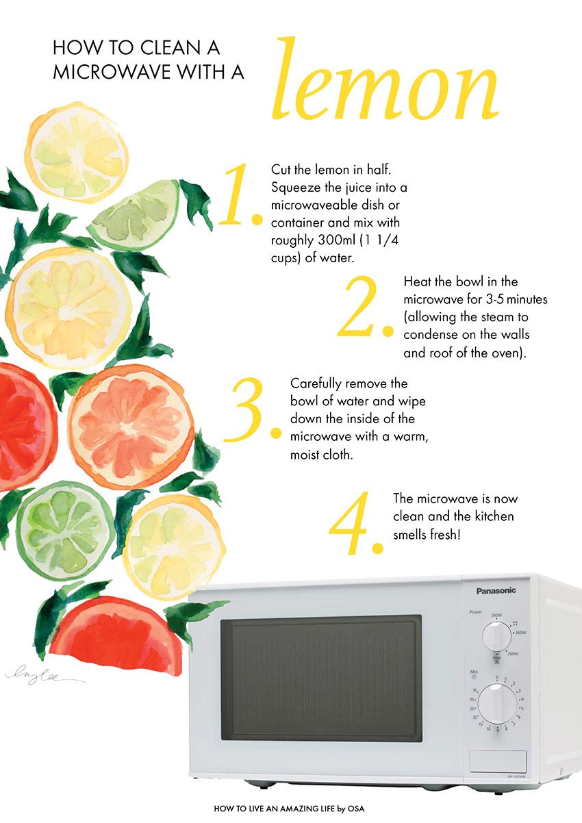 how to clean a microwave with a lemon how to live an amazing life by osa. Black Bedroom Furniture Sets. Home Design Ideas