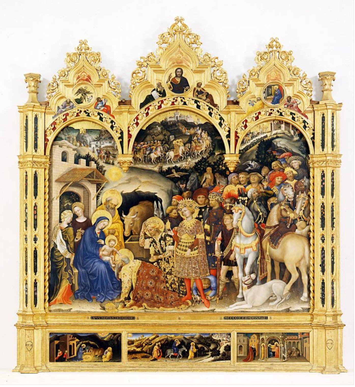 Gentile da Fabriano, Adorazione dei Magi (Pala Strozzi) Firenze, Galleria degli Uffizi