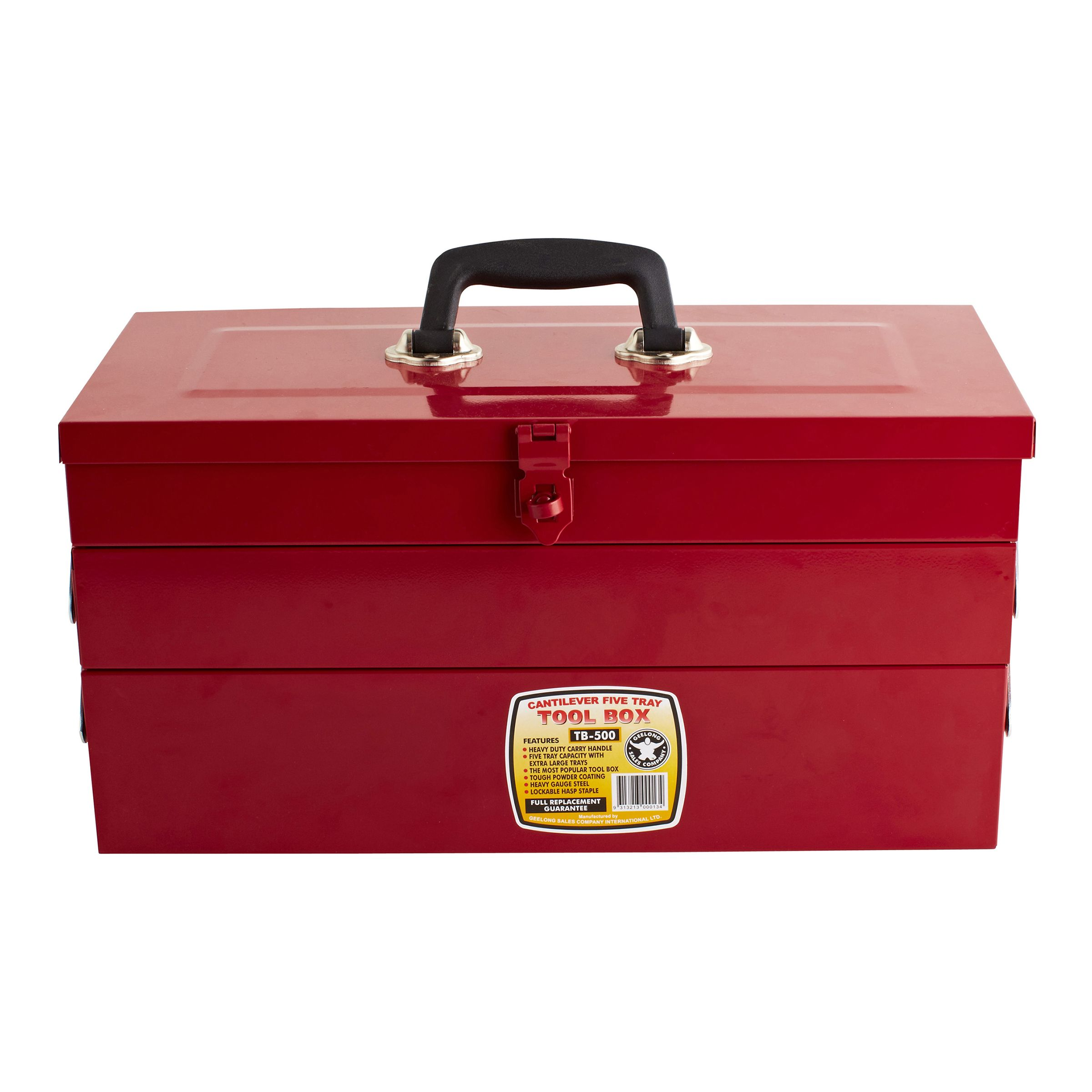 $19 98 Geelong Sales Cantilever 5 Tray Red Metal Tool Box