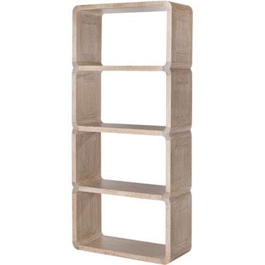 Get organized: the Laura Kirar Desert Bookshelf offers four fixed shelves of generous strength and depth.