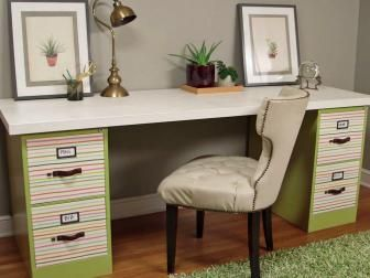 Turn Two File Cabinets And A Door Into Desk