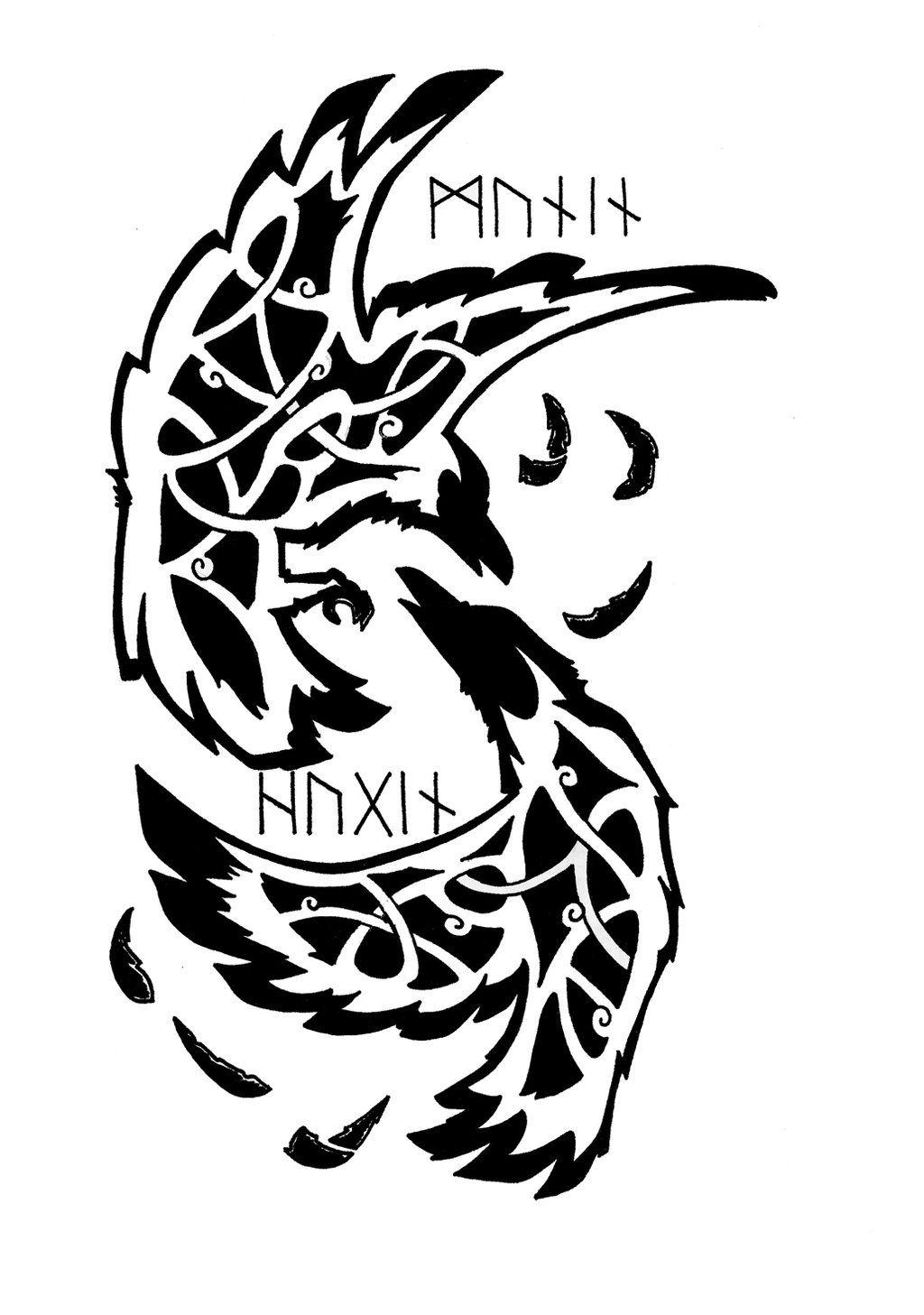 Odin S Ravens Norse Tattoo Viking Tattoos Nordic Tattoo