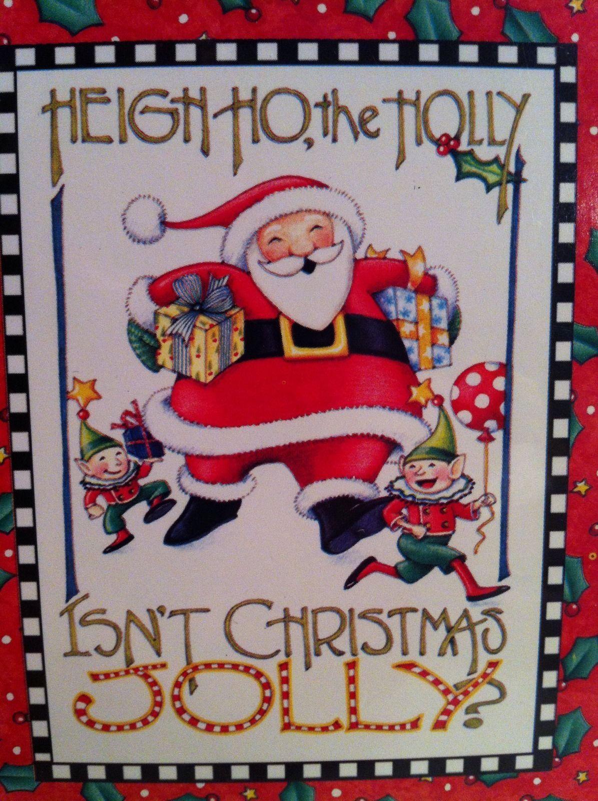 Mary Engelbreit ME Christmas Cards Santa Holiday 10 Blank Note Set ...