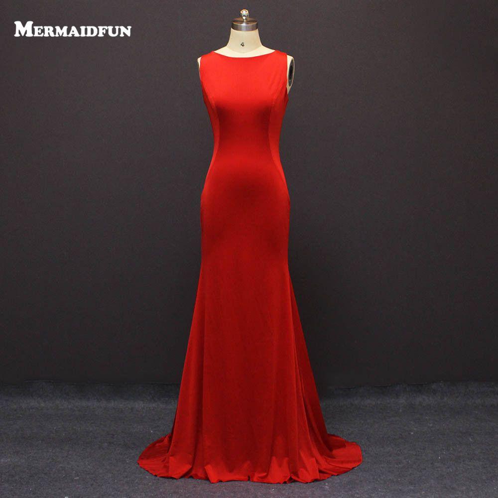 Click to buy ucuc vestido de festa sexy open back red long evening