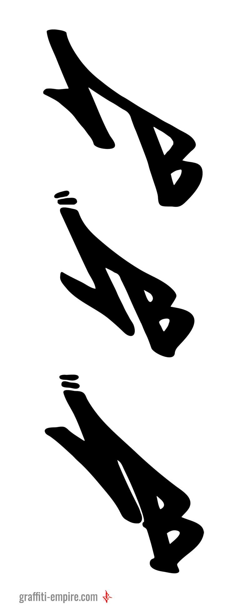 B graffiti tag letter variation graffiti lettering inspiration which one do you like the most 1 2 or 3
