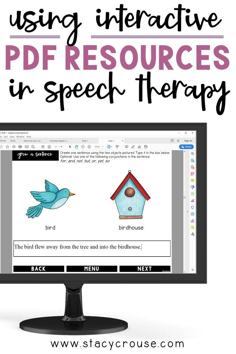 Using Interactive Pdf Resources In Speech Therapy In 2020 Speech