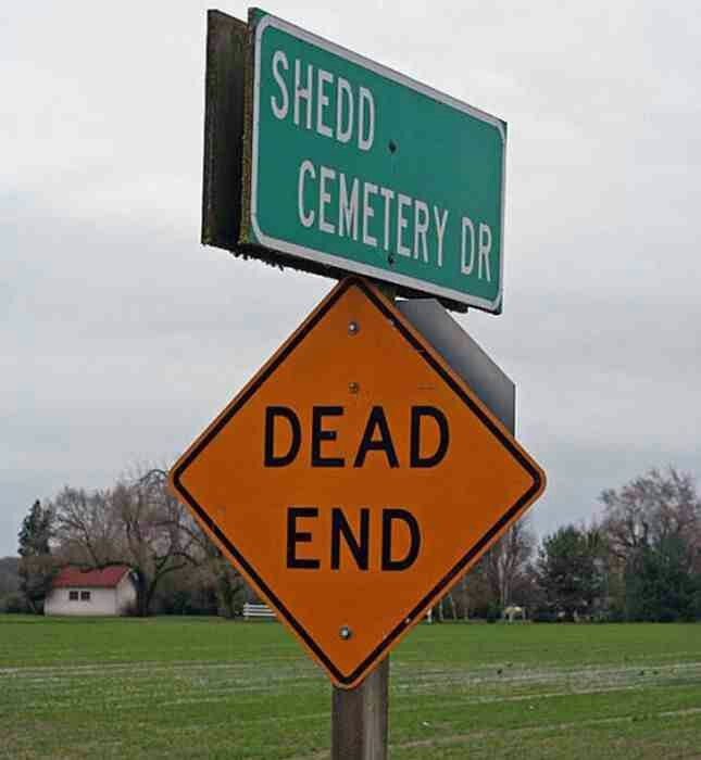 Shedd cemetery dr dead end from Google