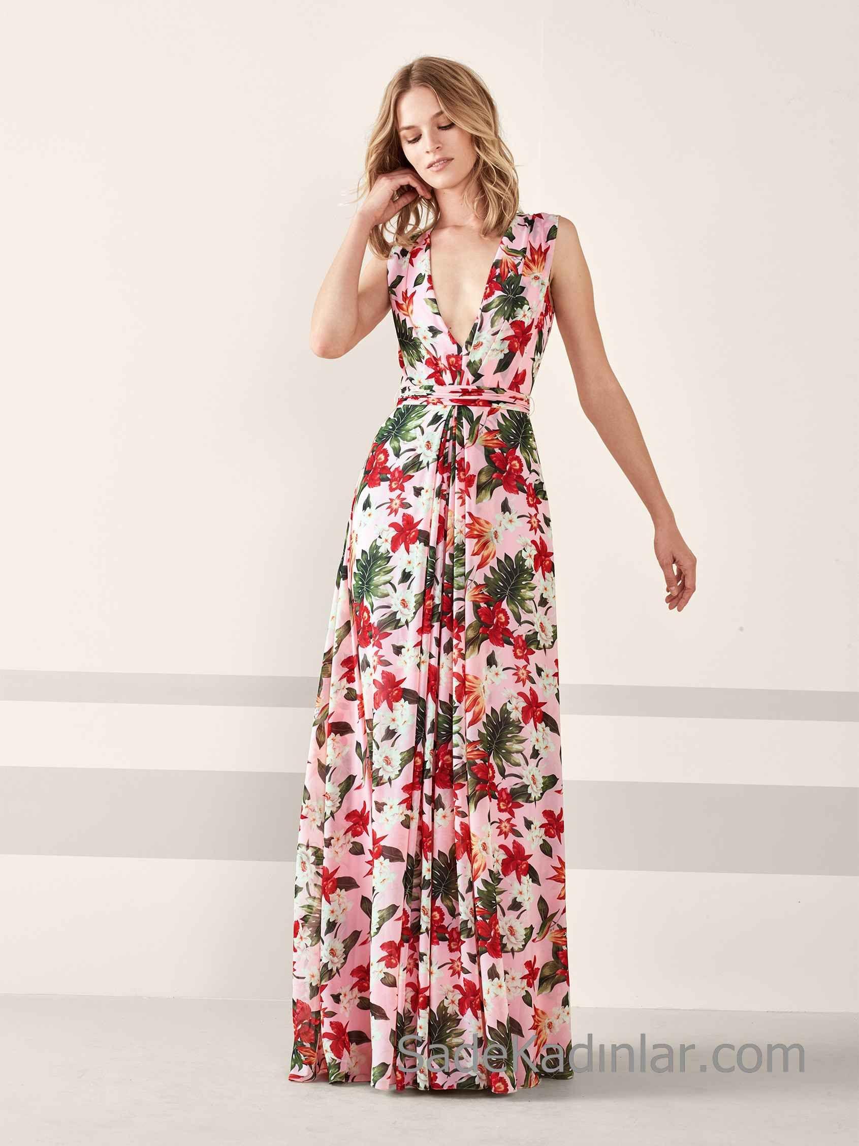 2019 Yeni pembe elbise modelleri