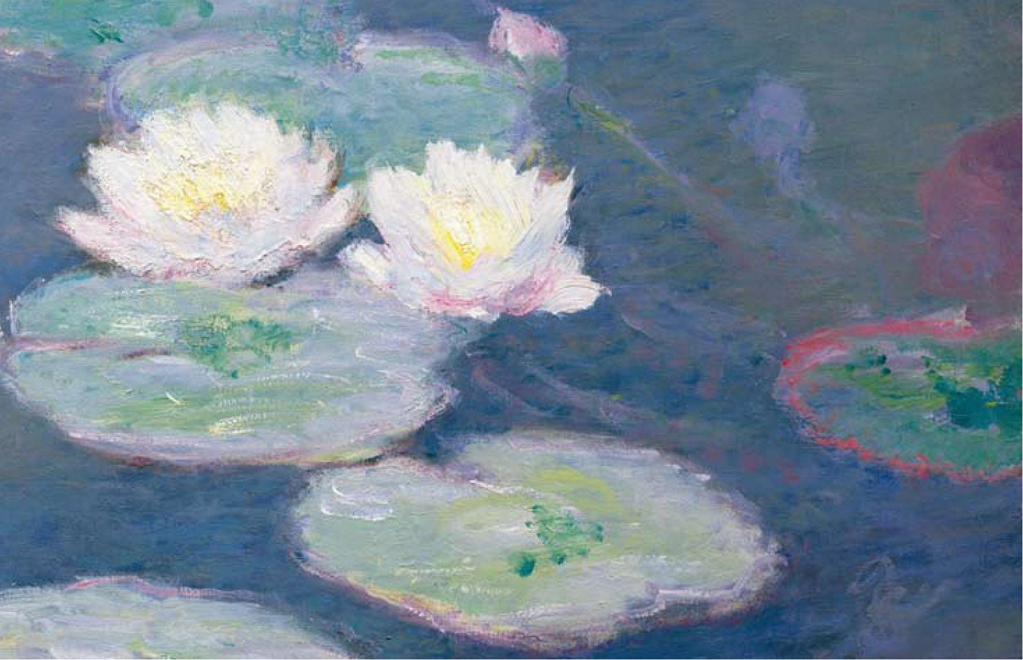 French Impressionist, Water Lilies water