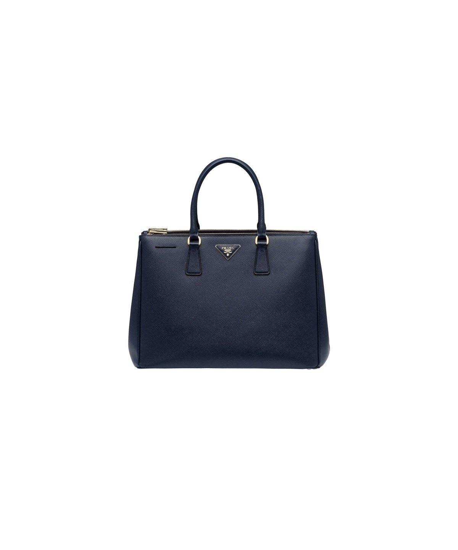 dbee97f24c65 PRADA Saffiano Leather Tote Handbag Baltic Blue .  prada  bags  shoulder  bags  hand bags  leather  tote  lining