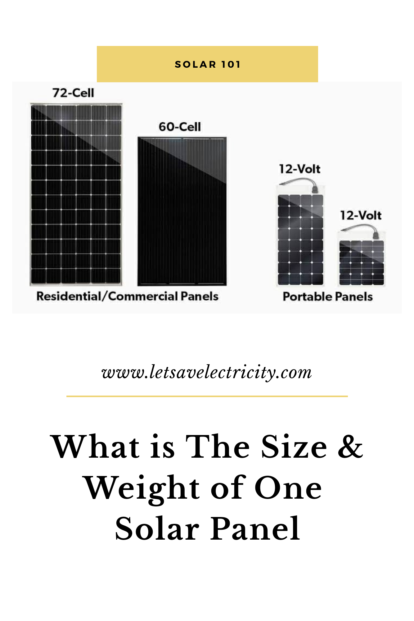 What Is The Size Of A Solar Panel Weight Of A Solar Panel In 2020 Solar Panels Paneling Solar