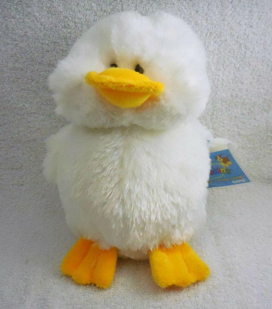 "Ganz Webkinz HM148 White Duck, Easter pet, 8"" plush"