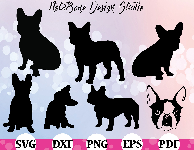 French Bulldog Svg Bulldog Silhouette Bundle Dxf Puppy Canine Etsy Svg Bulldog French Bulldog